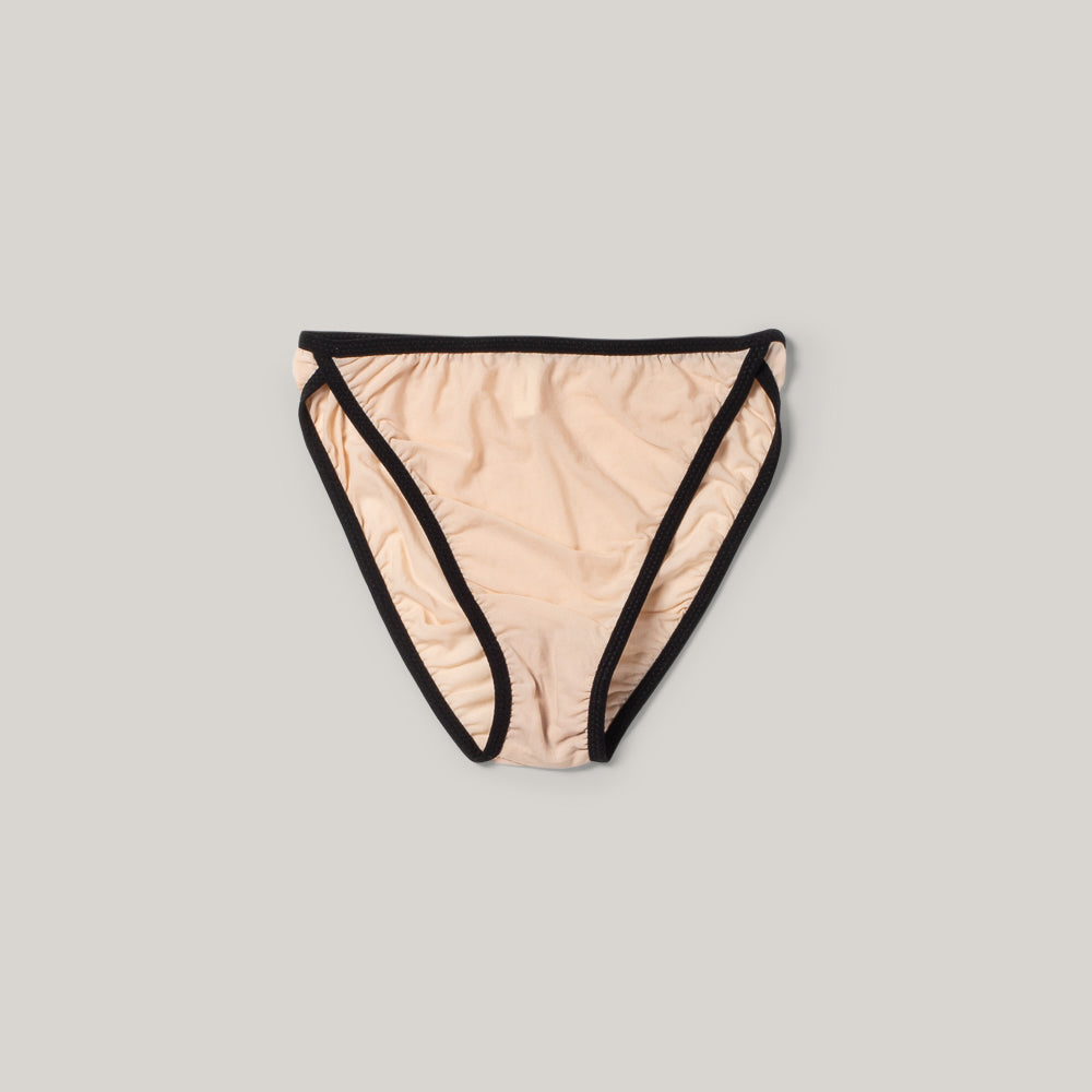 KYE INTIMATES MIES BRIEF - BLACK + ECRU