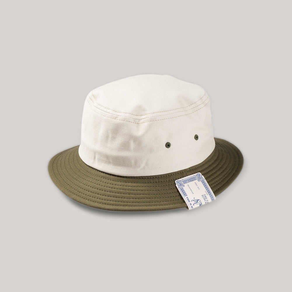 H.W. DOG & CO. SMALL BUCKET HAT - OLIVE/NATURAL