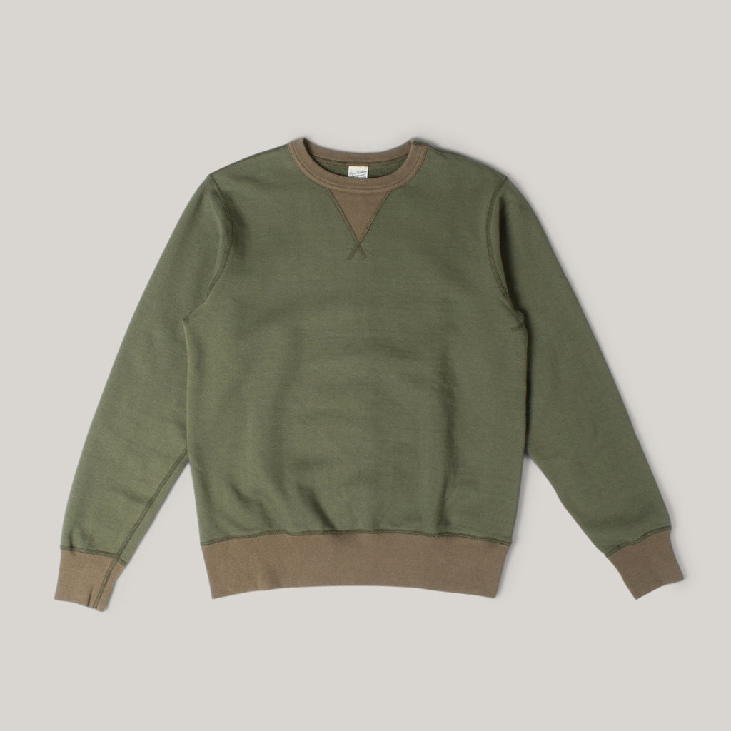 BUZZ RICKSON TRAINERS SWEAT - OLIVE