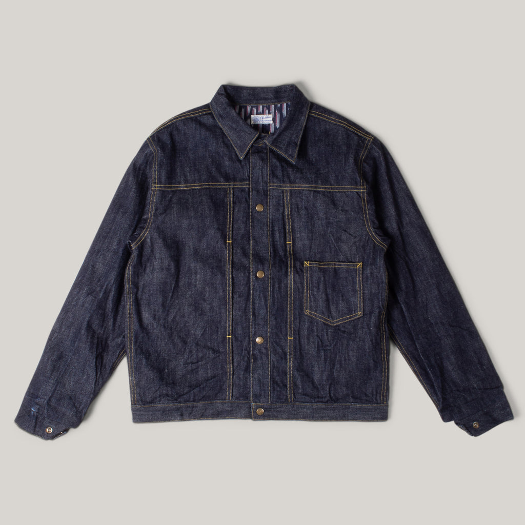 SUGAR CANE OKOLEHAO 13.5OZ DENIM PANIOLO JACKET - NAVY
