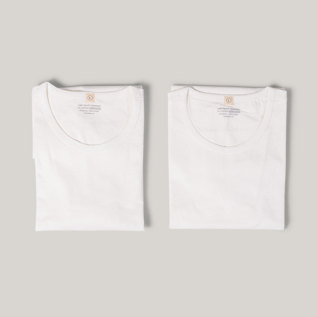 LADY WHITE CO. TEE 2 PACK - WHITE