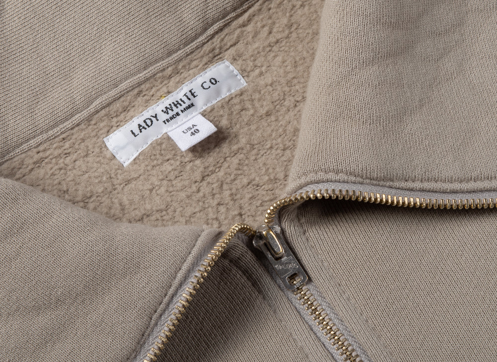 LADY WHITE CO. 1/4 ZIP POCKET - TAUPE FOG