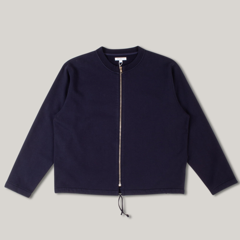 LADY WHITE CO. ZIP CARDIGAN - NAVY