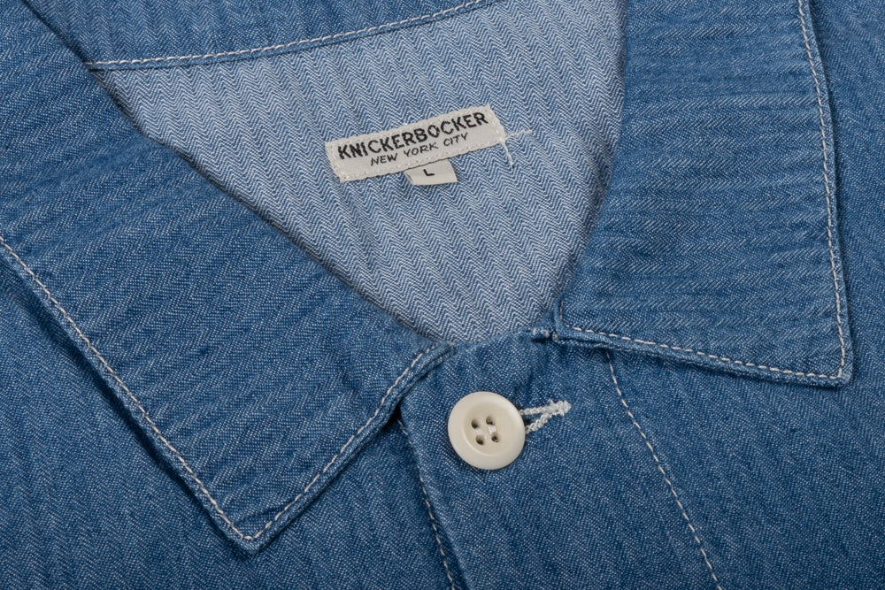 KNICKERBOCKER CHORE SHIRT - STONEWASH FISHER STRIPE