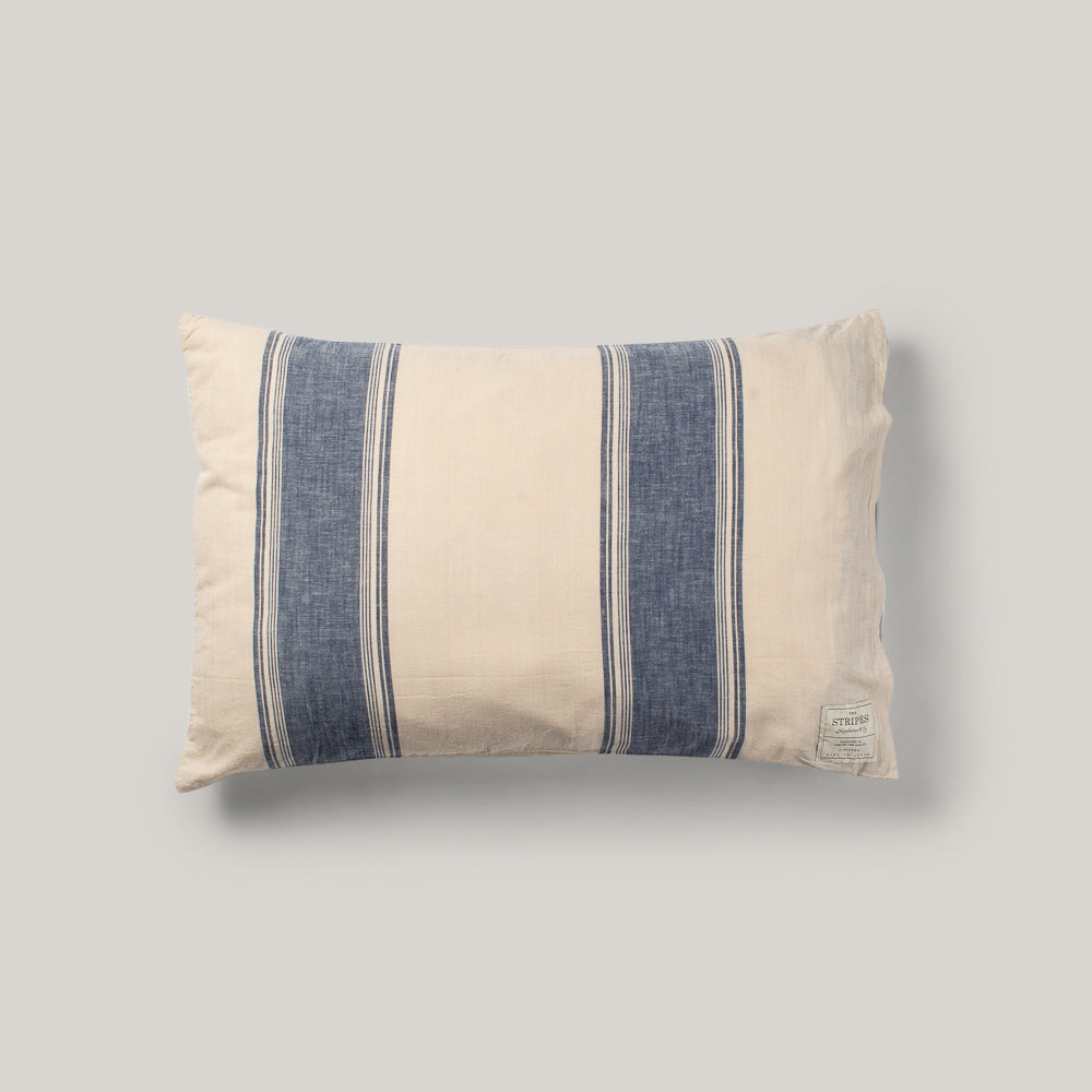 BASSHU PILLOW CASE - INDIGO STRIPE