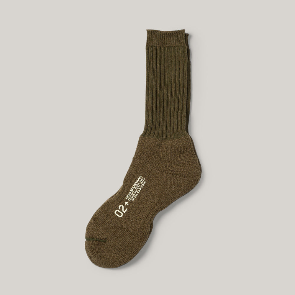 NIGEL CABOURN 3-PACK ARMY SOCKS - GREEN