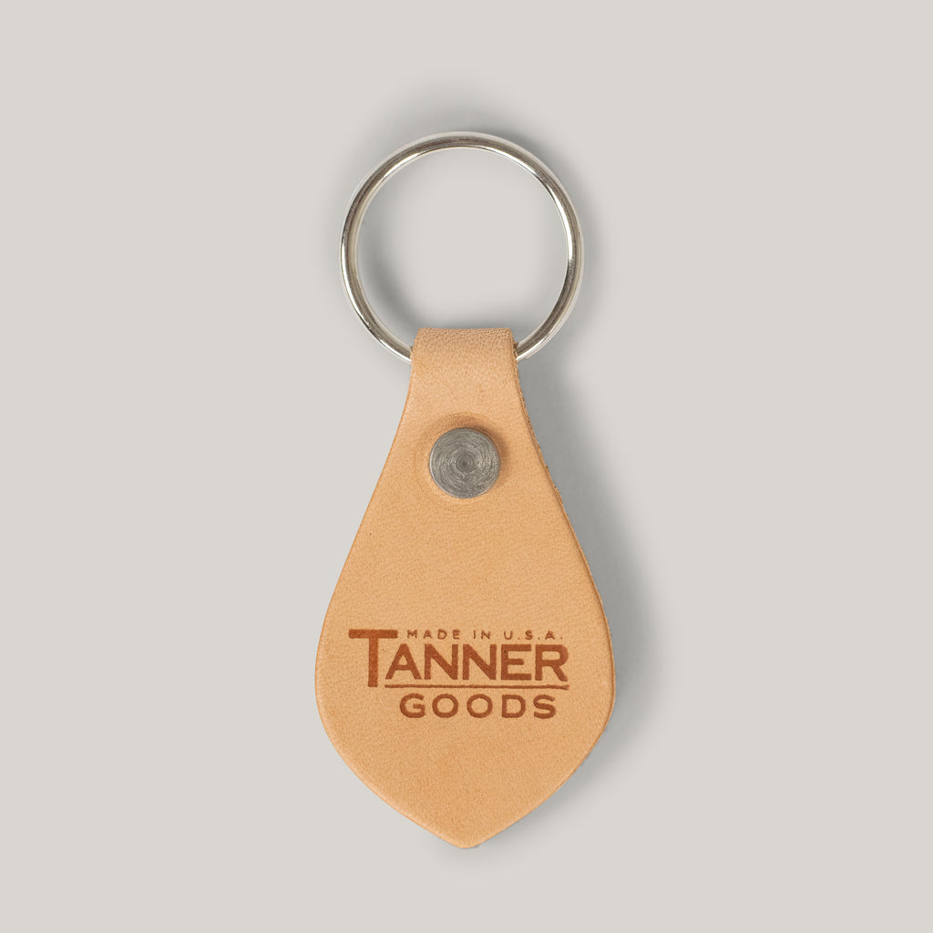 TANNER GOODS KEY FOB - NATURAL/STAINLESS