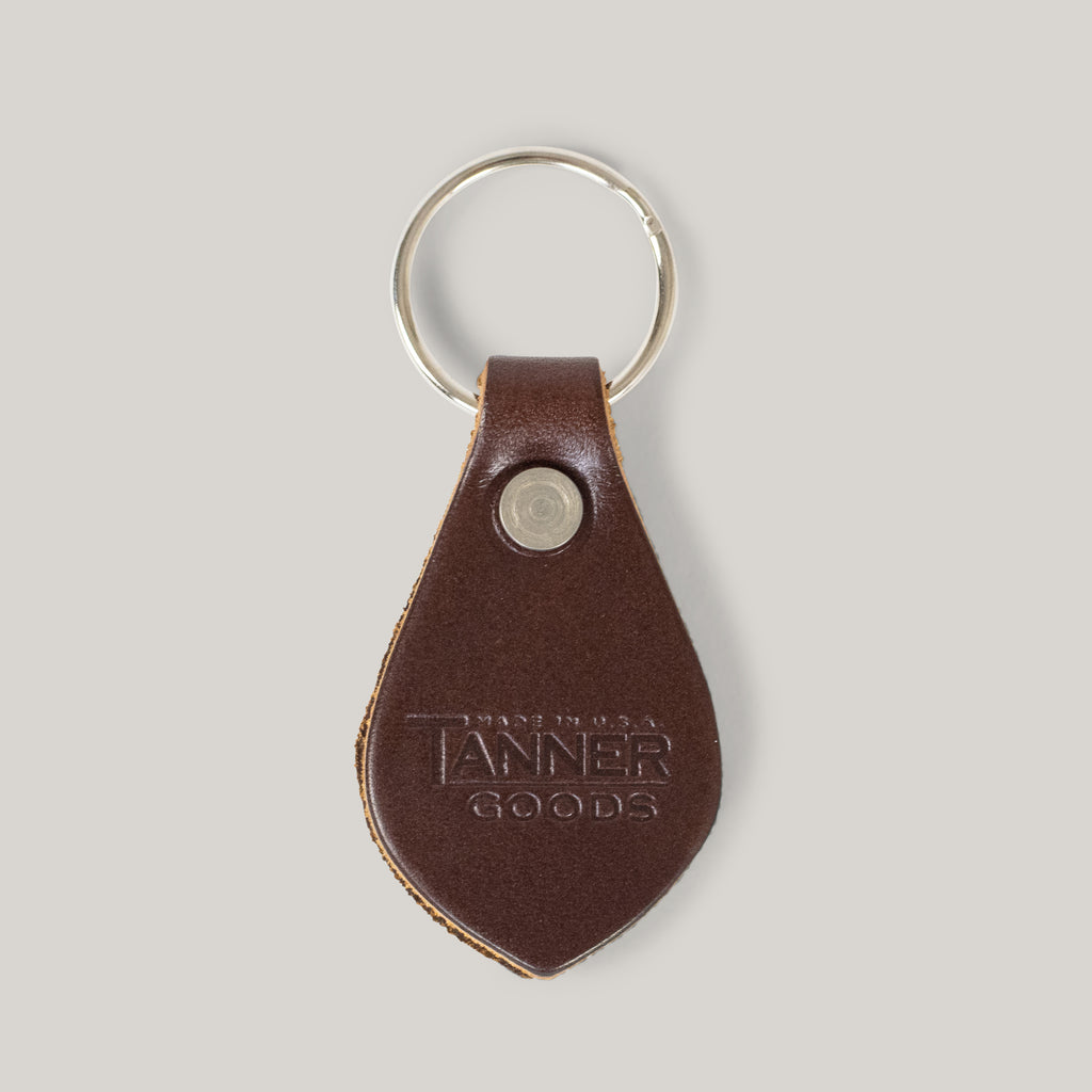 TANNER GOODS KEY FOB - COGNAC/STAINLESS