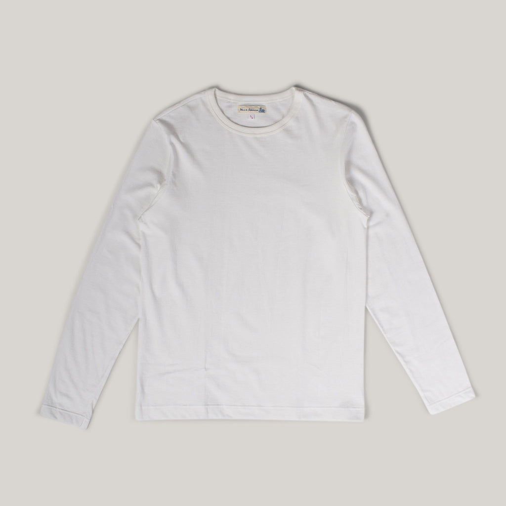 MERZ B SCHWANEN 1950's LONG SLEEVE TEE - WHITE