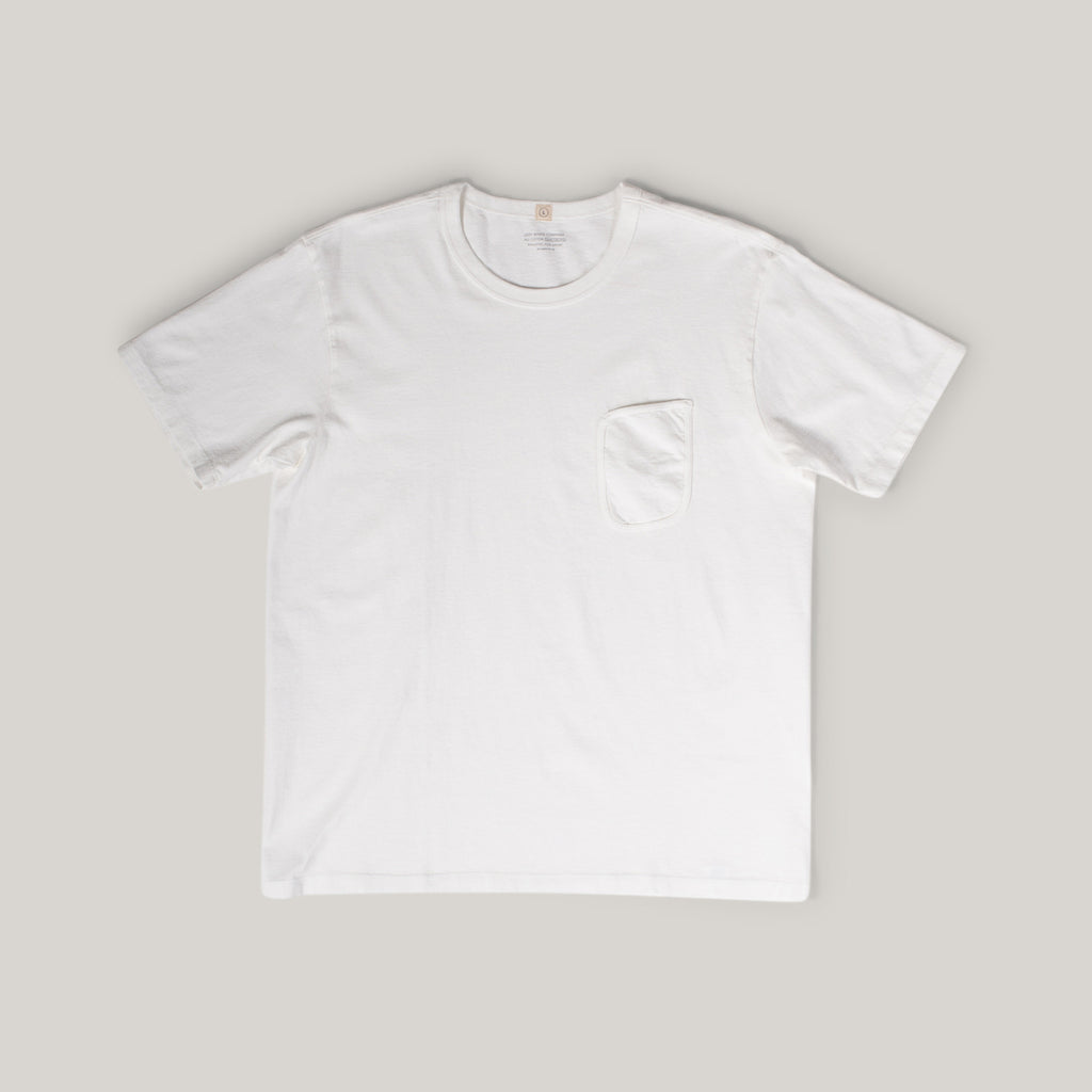 LADY WHITE CO. CLARK POCKET TEE - WHITE
