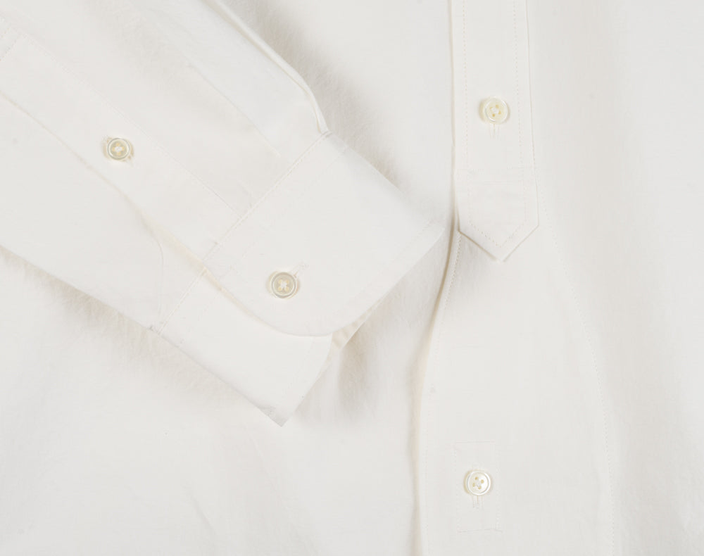 NIGEL CABOURN NEW BRITISH OFFICER'S SHIRT - OFF WHITE