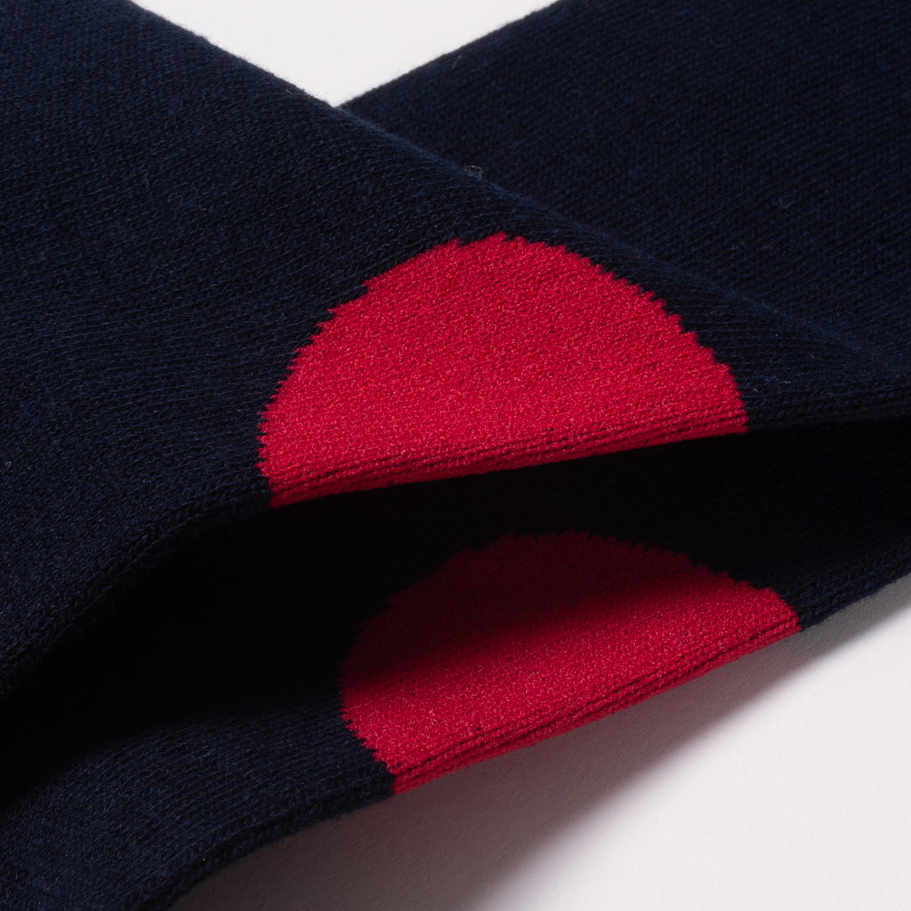 BLUE BLUE JAPAN BACK-SIDE JAPAN FLAG SOCKS - NAVY