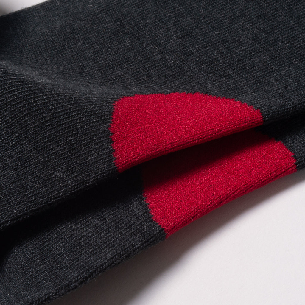 BLUE BLUE JAPAN BACK-SIDE JAPAN FLAG SOCKS - GREY