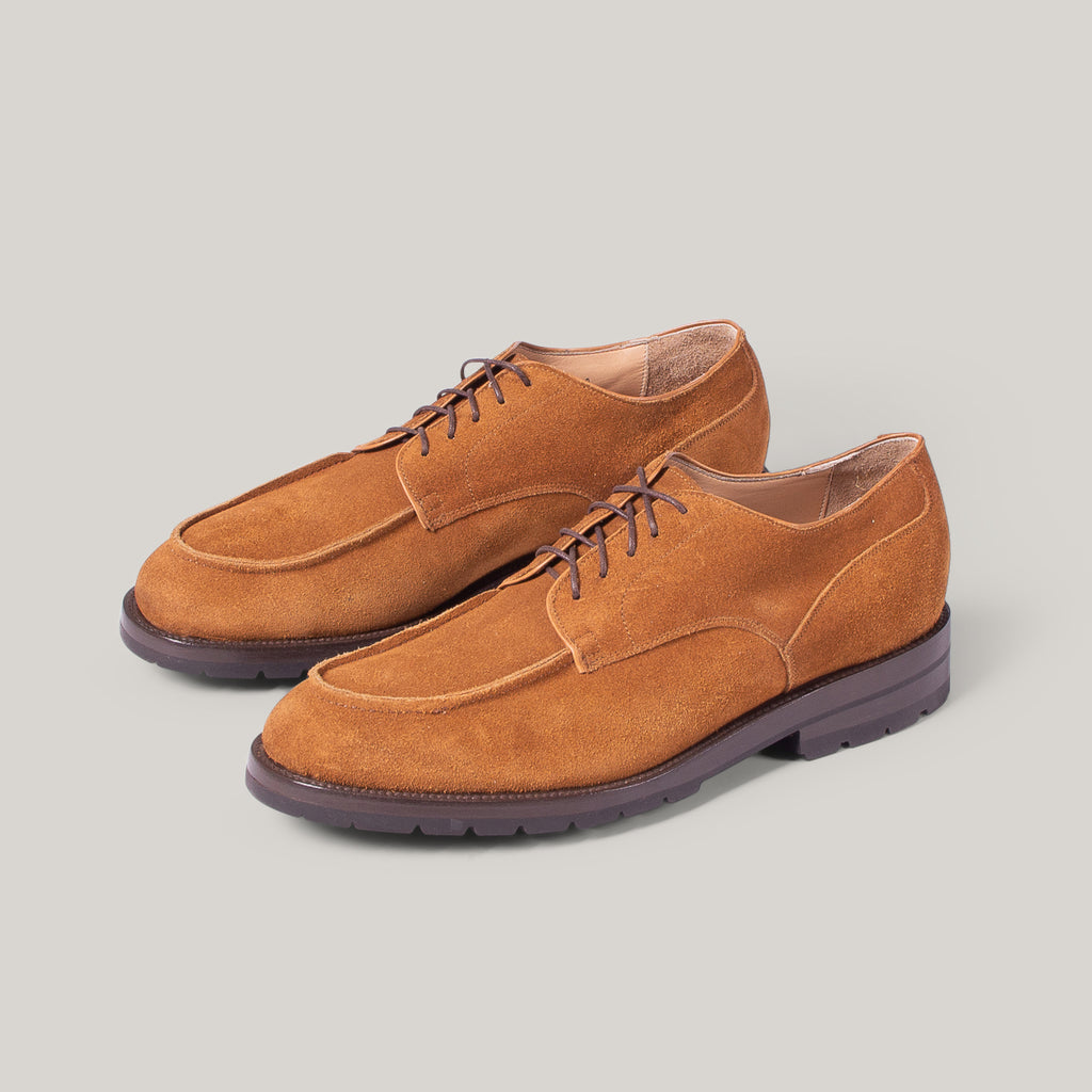 YUKETEN POSTMAN SHOE - GOLDEN BROWN SUEDE