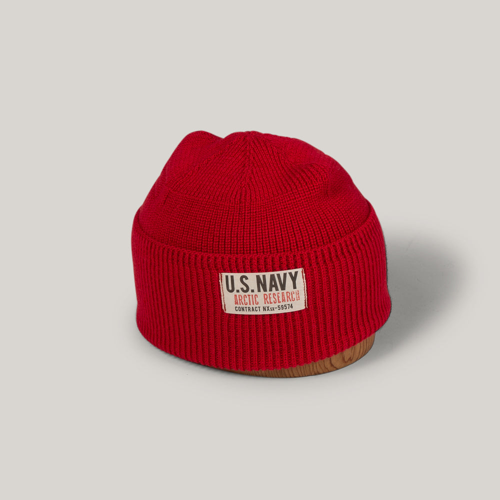 PAPA NUI ARCTIC WATCH CAP - RESCUE RED