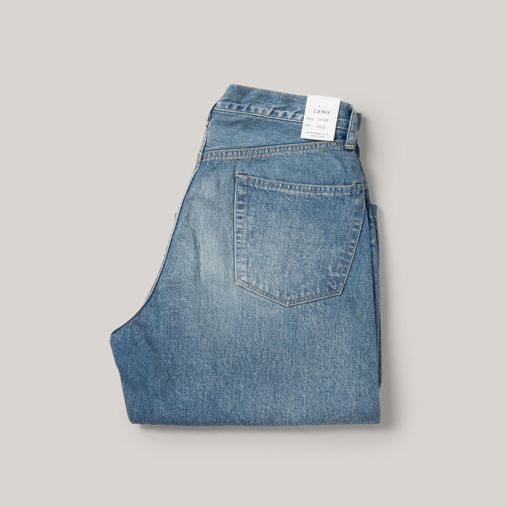 LENO LOOSE TAPERED JEAN - FADE INDIGO
