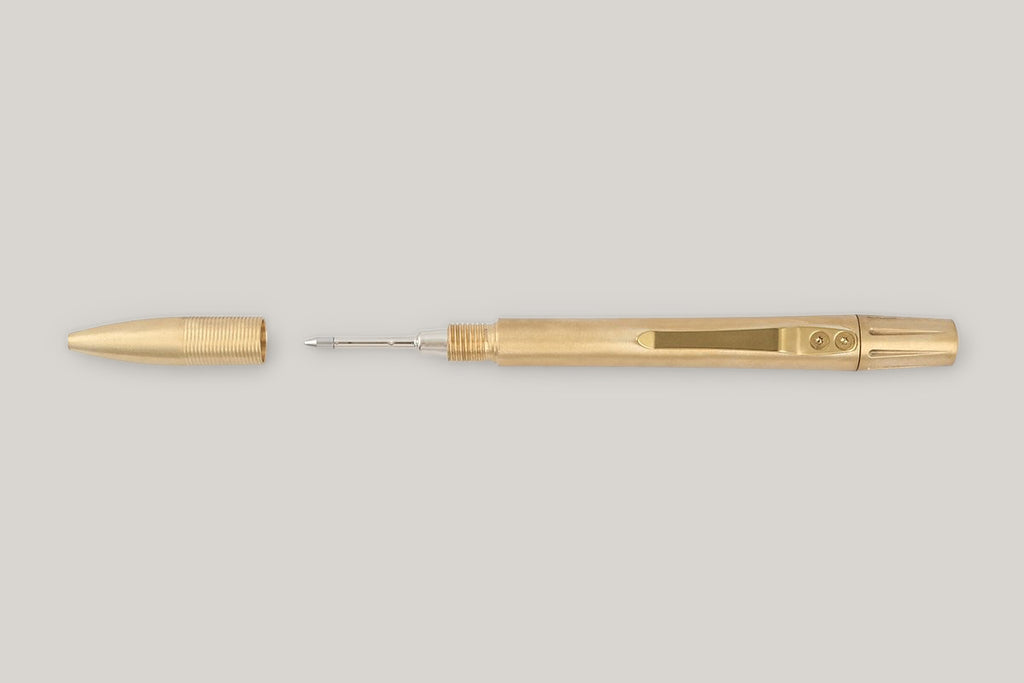 TANNER GOODS MEMORI MECHANICO PEN - BRASS