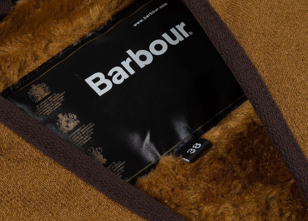 BARBOUR WARM PILE ZIP JACKET LINER - BROWN