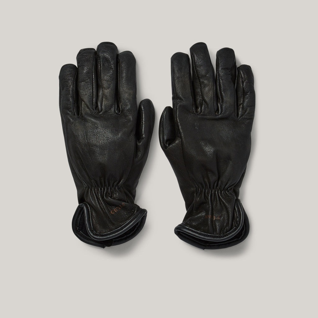 FILSON LINED GOATSKIN GLOVES - BLACK