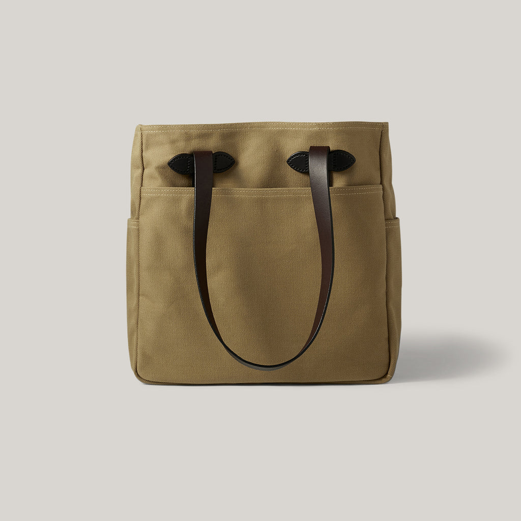 FILSON TOTE BAG W/OUT ZIPPER - TAN