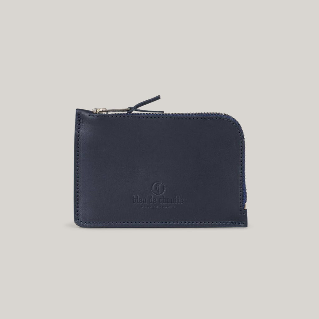 BLEU DE CHAUFFE POGNON ZIPPERED PURSE - BLEU CABAN