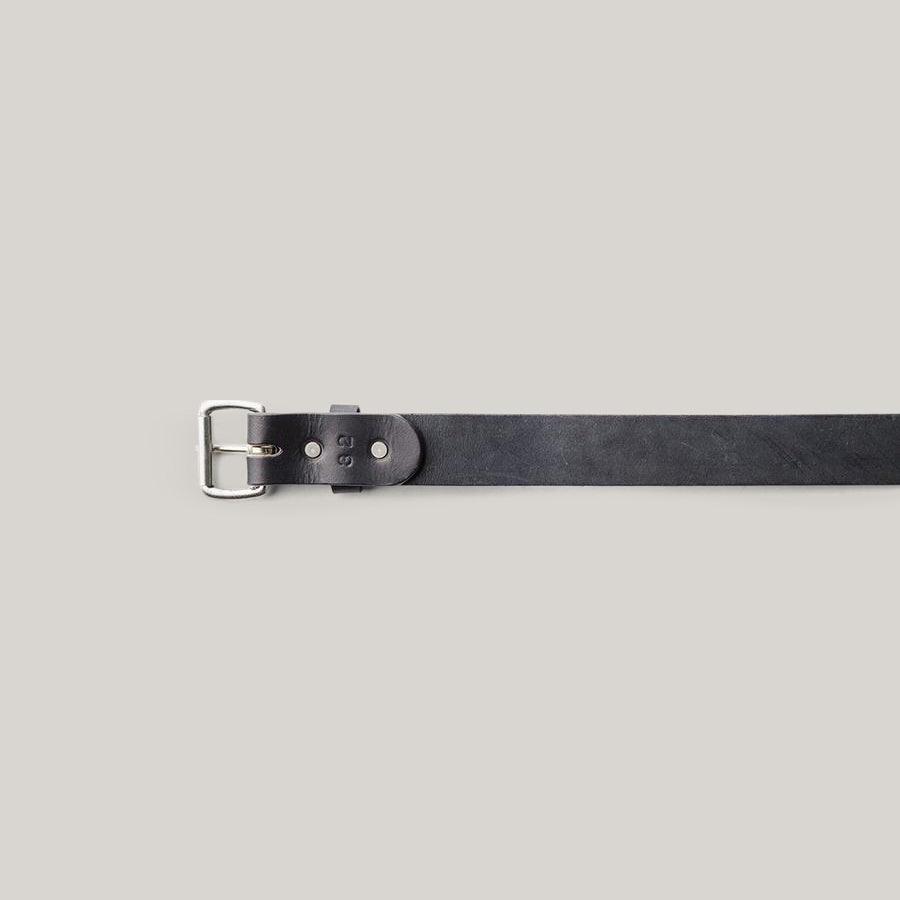 TANNER GOODS STANDARD BELT - BLACK/STAINLESS
