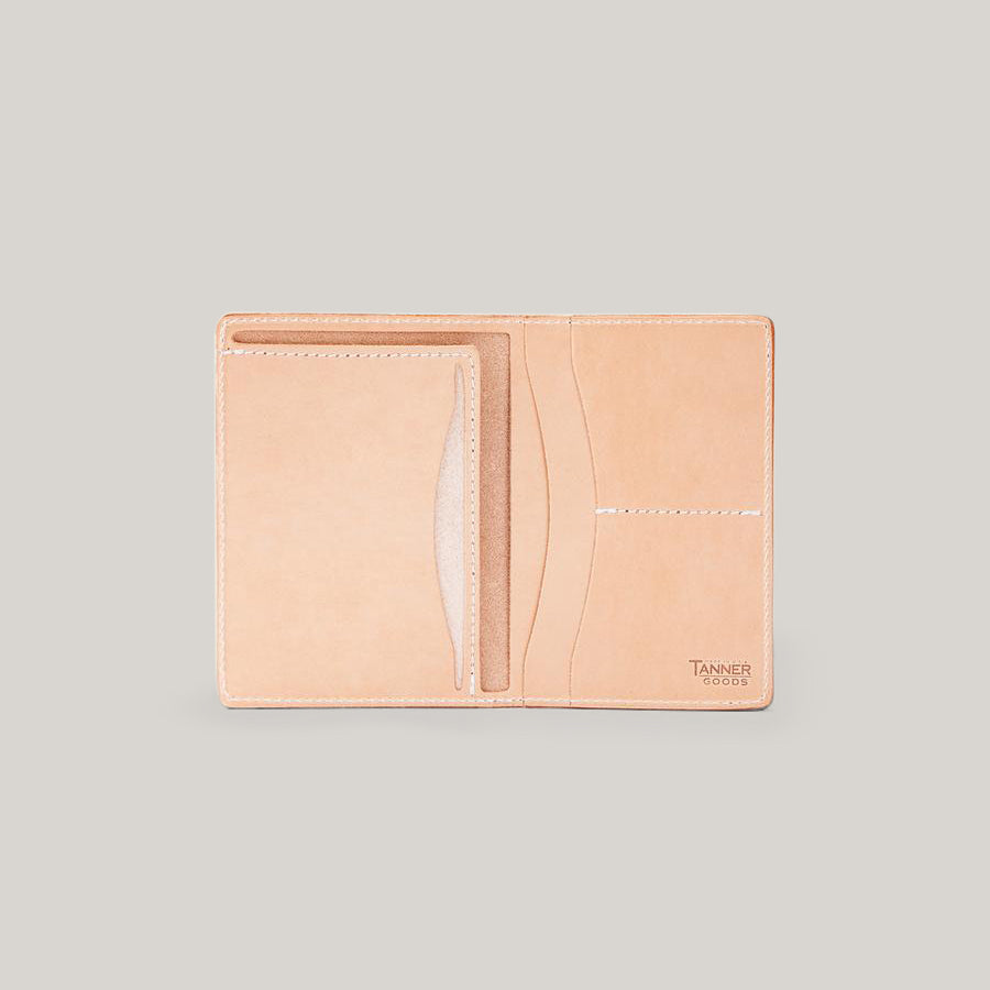 TANNER GOODS TRAVEL WALLET - NATURAL