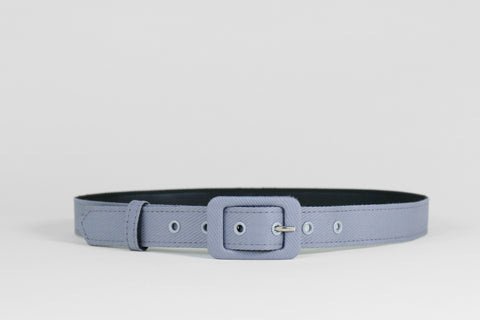 Grey Diagonal Striped Belt