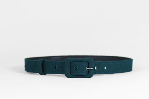 Forest Green Textured Belt