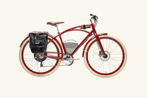 Cafe Golden Gate Red with rack bag and lock