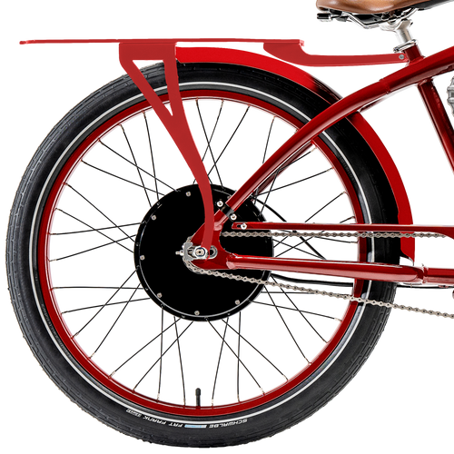 Red Rear Rack