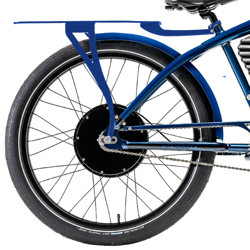 Blue Rear Rack