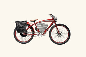 Tracker bike with rack bag and lock
