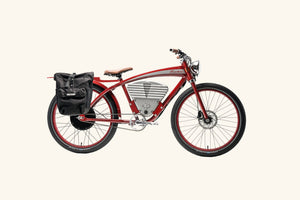Tracker bike with rack and bag