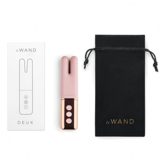 Le Wand Deux Twin Motor Vibrator - Rose Gold