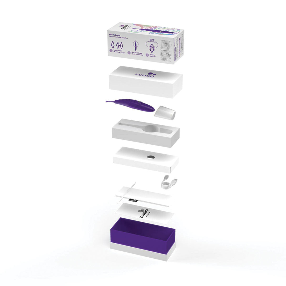 Zumio Clitoral Stimulator with packaging