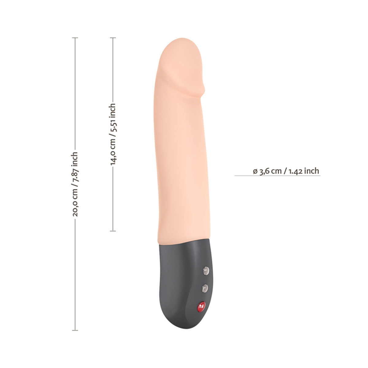 Fun Factory Stronic Real Realistic Pulsator Thrusting Dildo - Cream measurements
