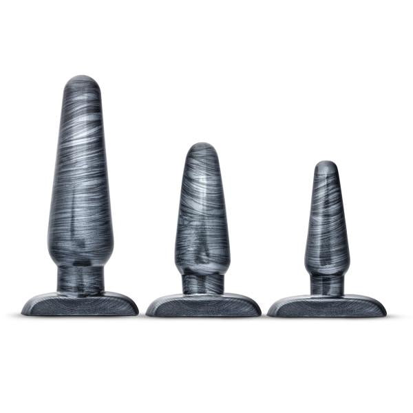 Jet Anal Trainer Kit Carbon Metallic Black 3 Butt Plugs by Blush