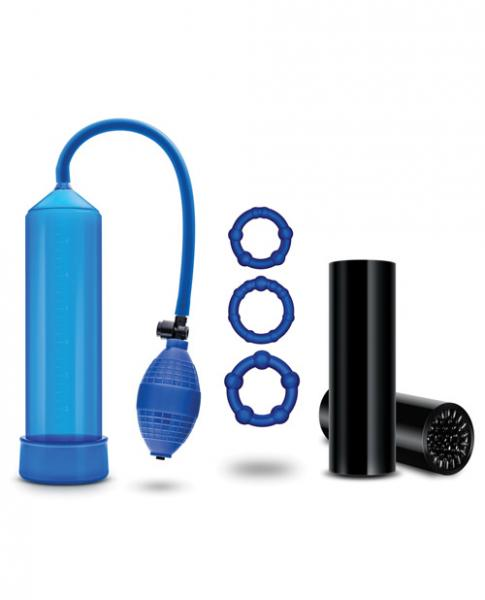 Quickie Kit Go Big Penis Pump, Stroker & Rings by Blush