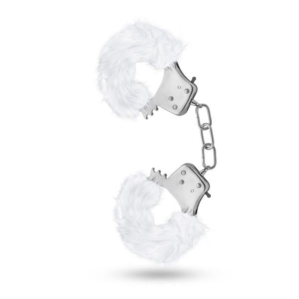 Temptasia Plush Fur Handcuffs by Blush Novelties white