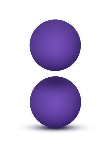 Luxe Double O Advanced Kegel Balls by Blush Novelties purple