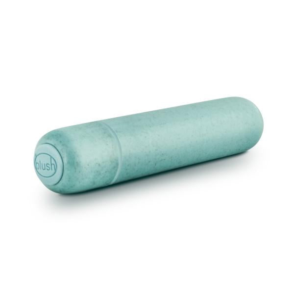Gaia Biodegradable, Recyclable Eco Bullet Vibrator by Blush Novelties - Aqua buttons