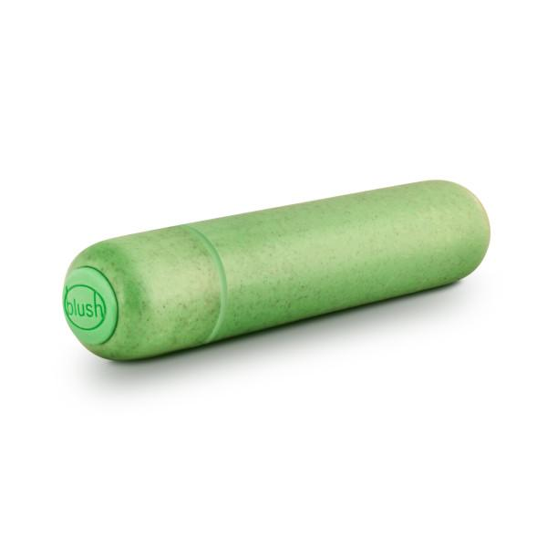 Gaia Biodegradable, Recyclable Eco Bullet Vibrator by Blush Novelties - Green buttons