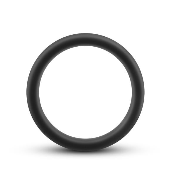 Performance Silicone Silicone Go Pro Cock Ring by Blush Novelties - Black & Blue front the front
