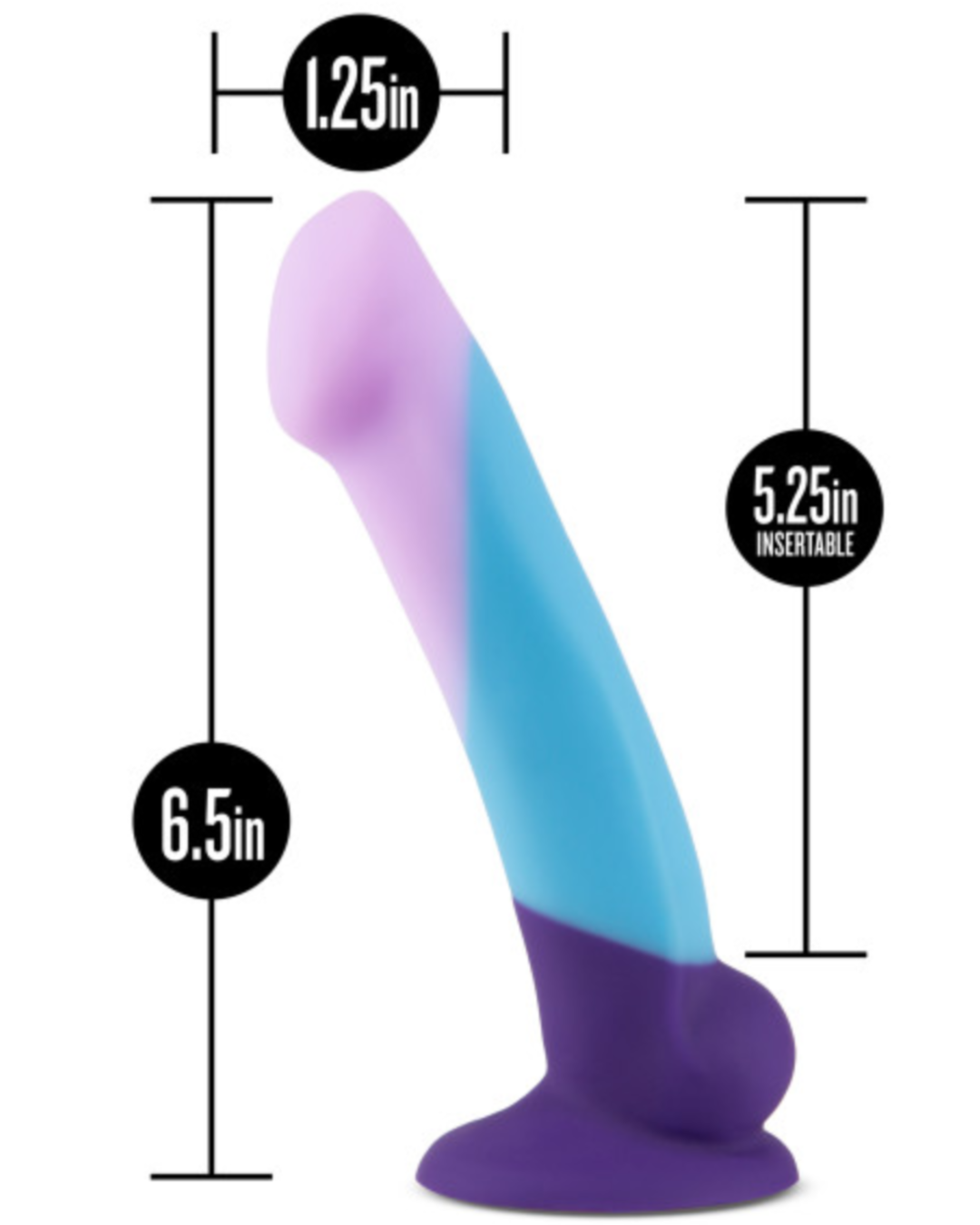 Avant D16 Purple Haze 6.5 Inch Dildo by Blush Novelties