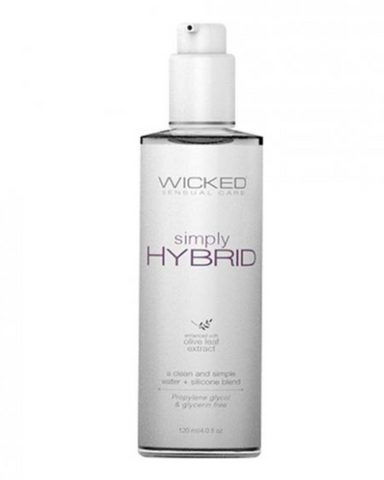 Wicked Simply Hybrid Lubricant - 4 oz close up
