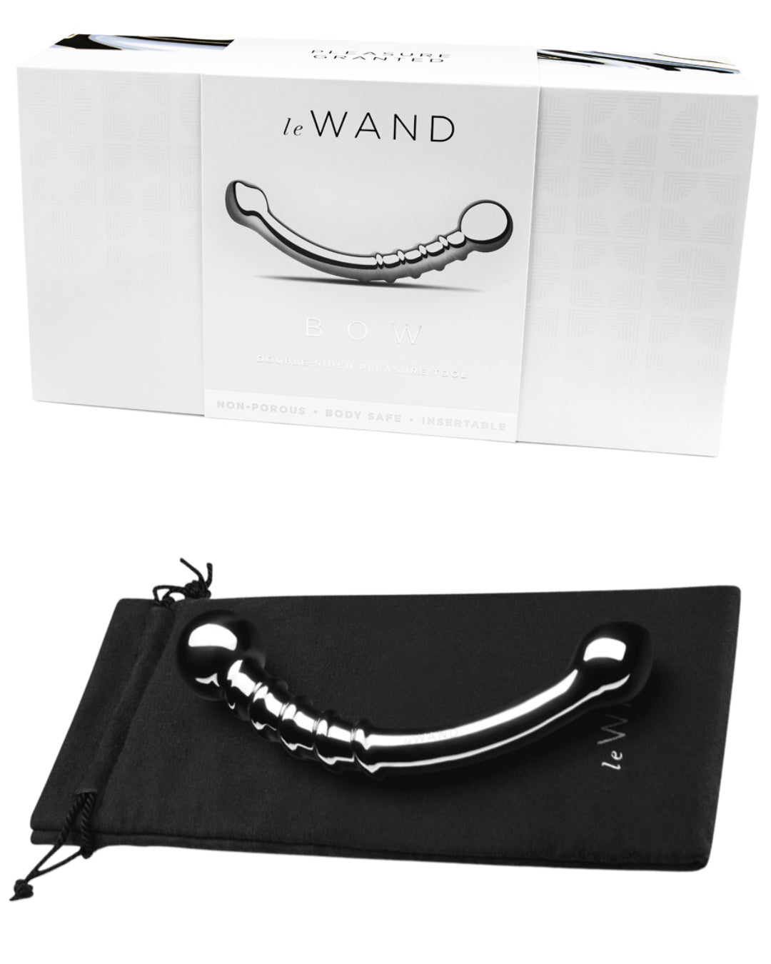 Le Wand Bow Double Ended Stainless Steel Dildo