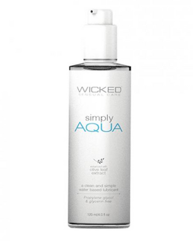 Wicked Simply Aqua Lubricant 4 oz bottle