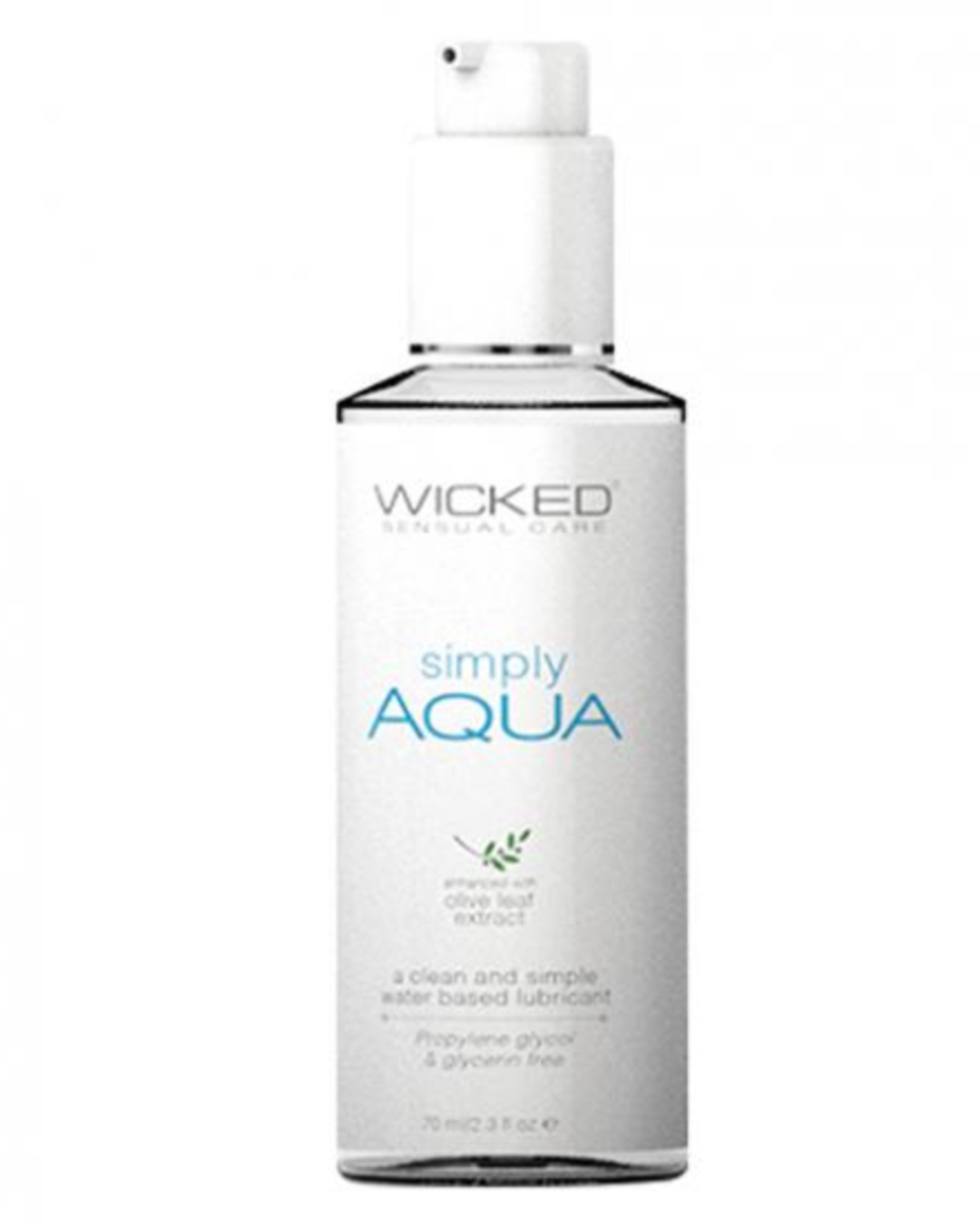 Wicked Simply Aqua Water Based Lubricant 2.3 oz