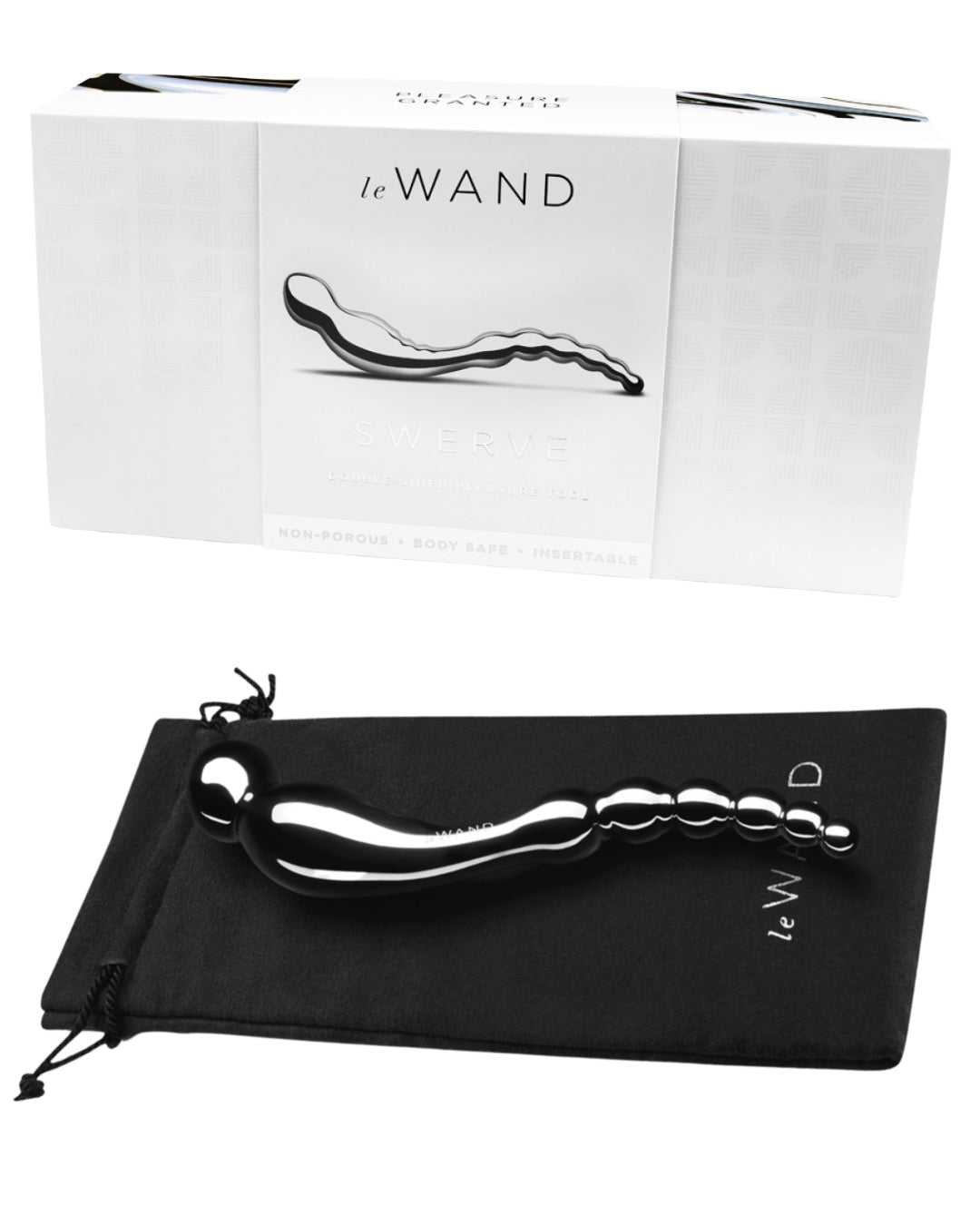 Le Wand Swerve Double Ended Stainless Steel Dildo